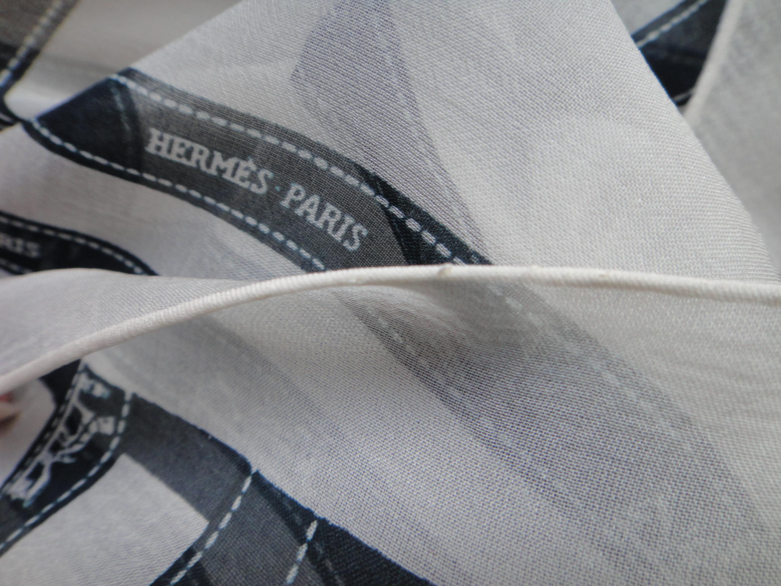 Hermès Chiffon scarf /  Tuch