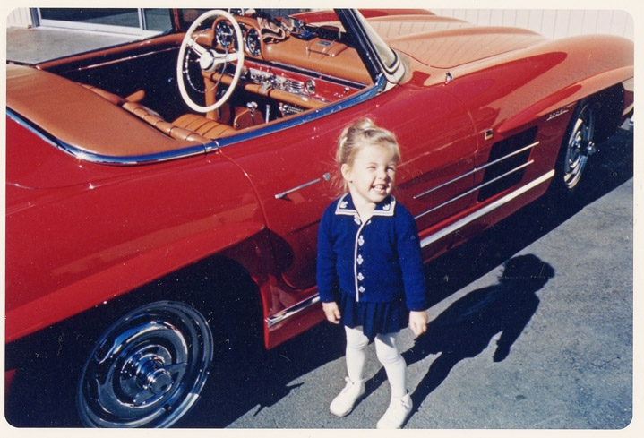 Mercedes 300 SL Roadster & me in the 60ies