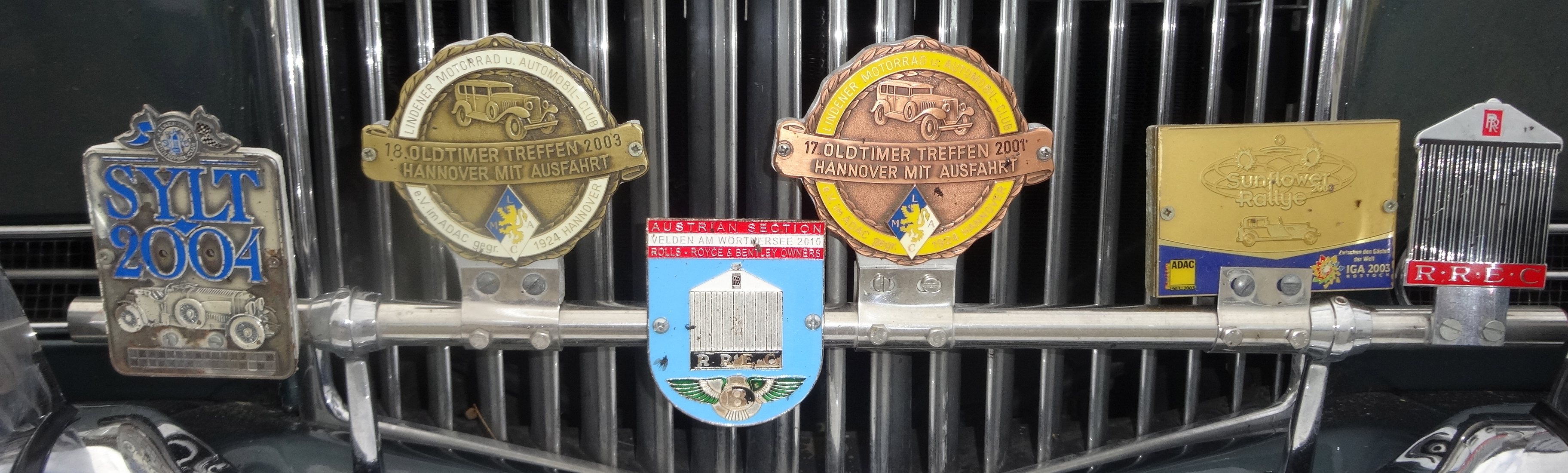 Rallye badges / Teilnehmer-Plaketten