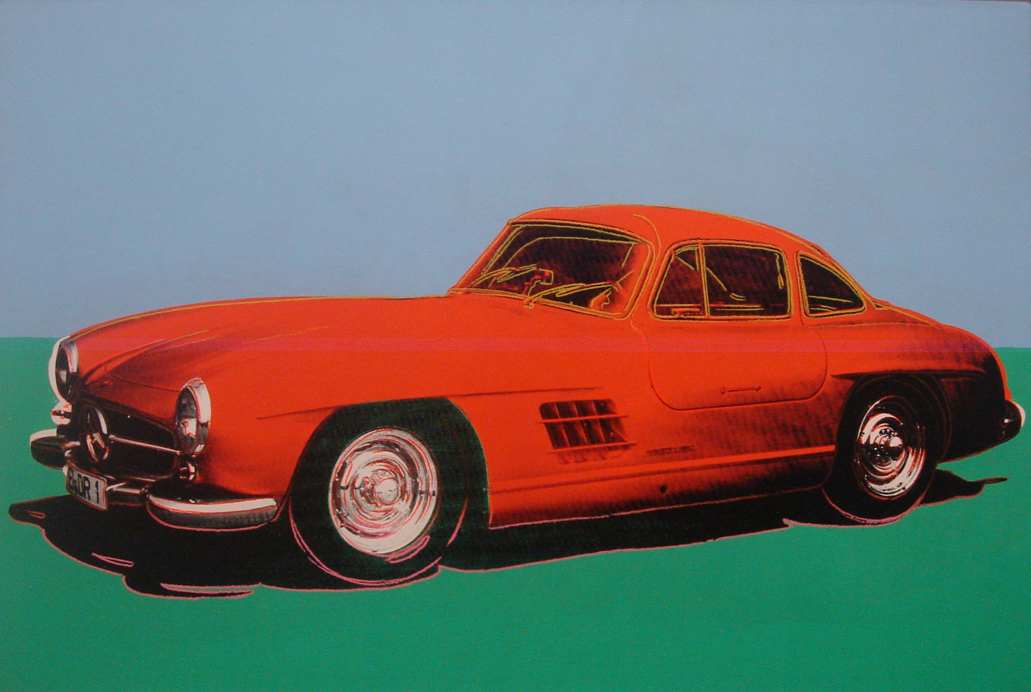 (c) Andy Warhol - Mercedes 300 SL Gullwing / Flügeltürer
