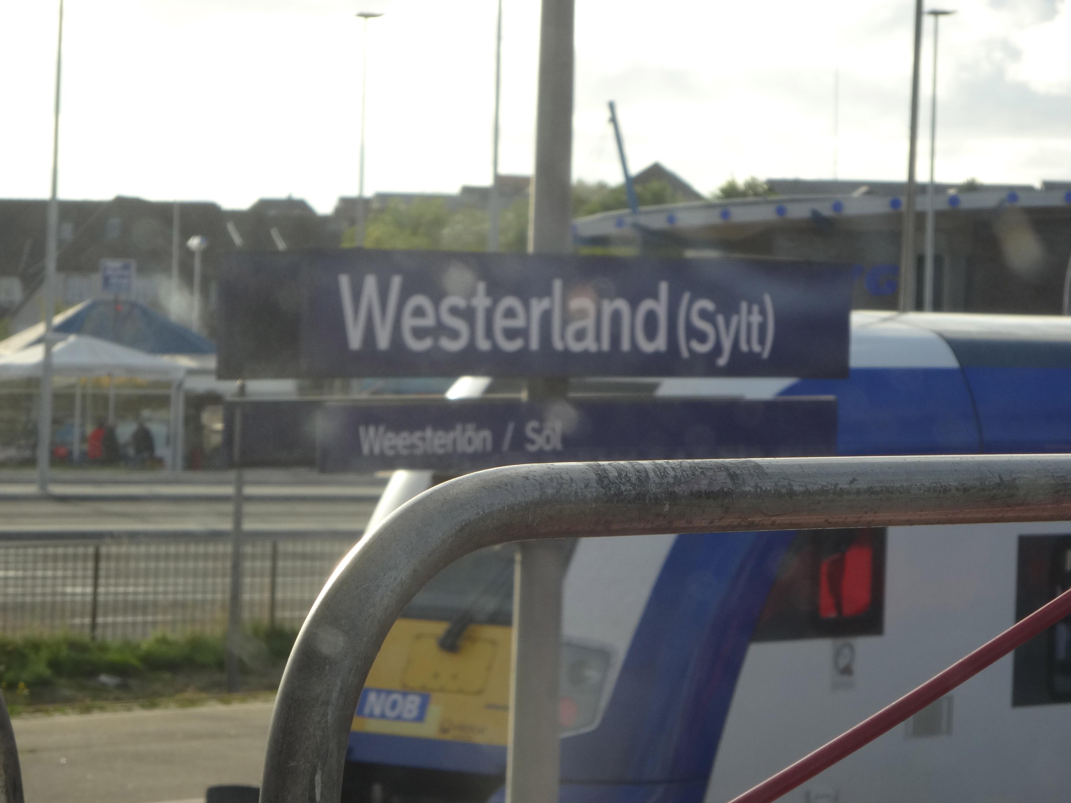 Ankunft / arrival in Westerland