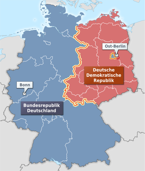 West- and East-Germany, West- und Ost-Deutschland, (c) Wikipedia