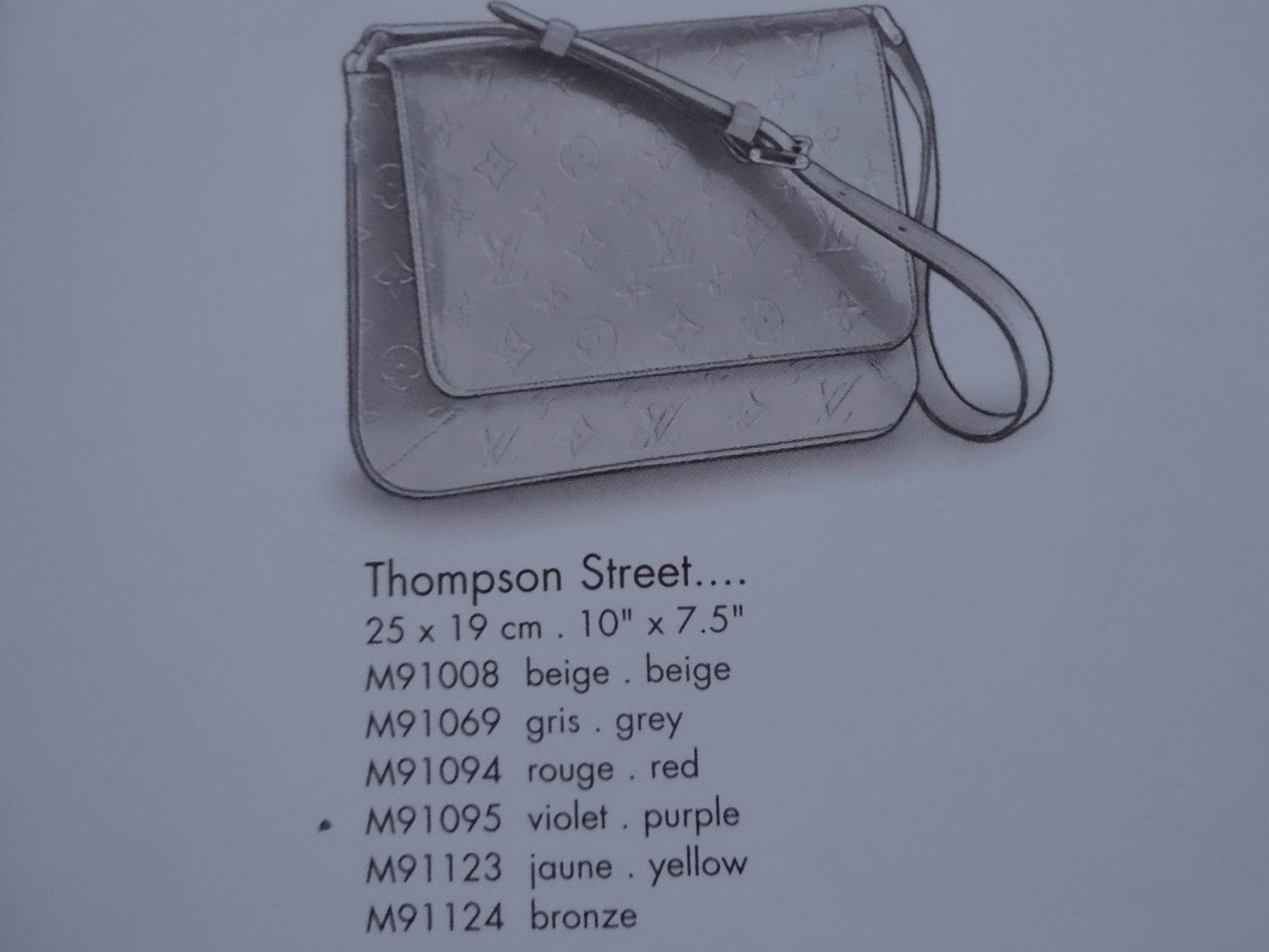Thompson Street (c) Louis Vuitton Le Catalogue 2001
