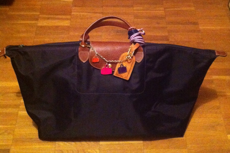 Louis Vuitton Lockit & Hermès Kelly in XL Le Pliage Longchamp