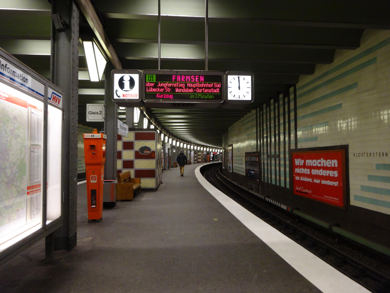 underground station Klosterstern, Hamburg