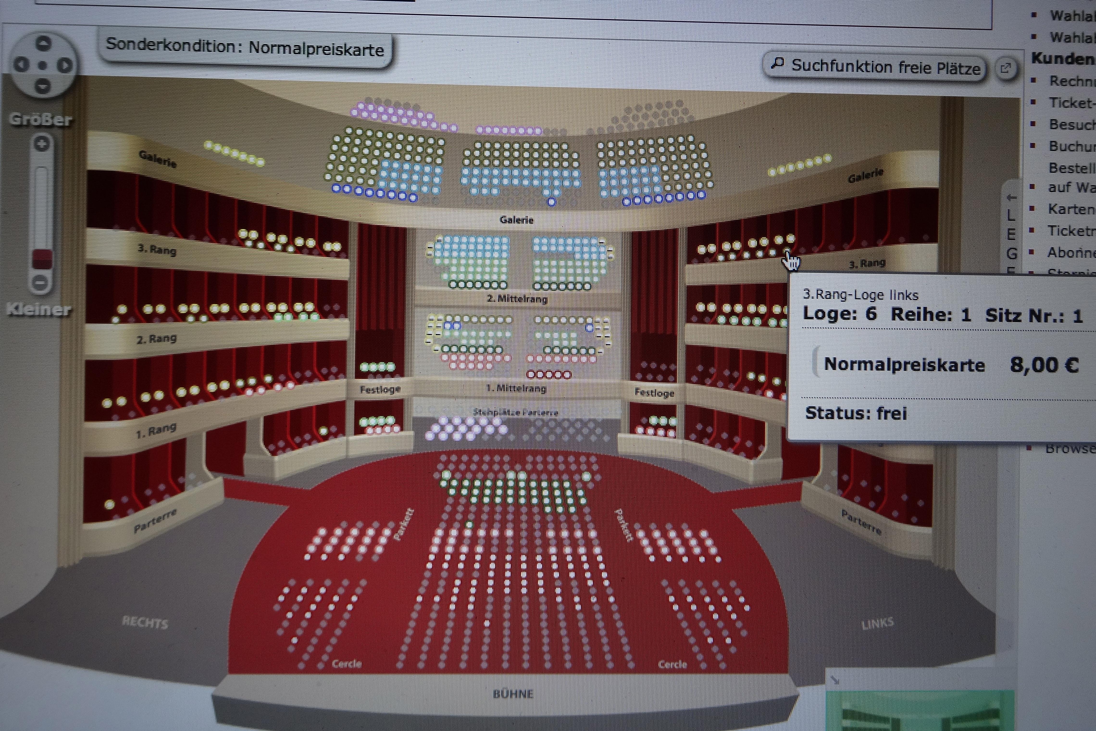 seating plan - Burgtheater - Sitzplan