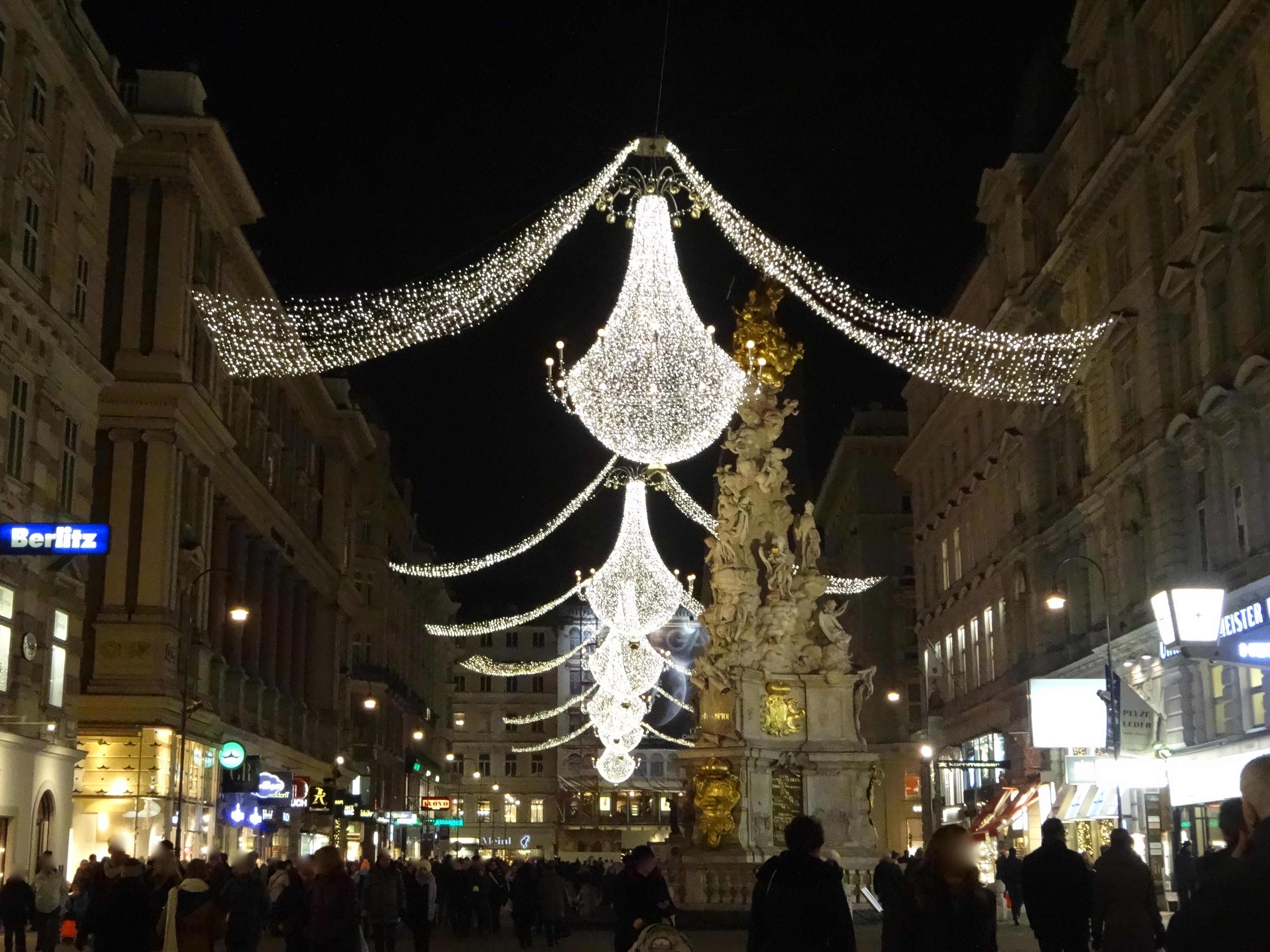 Vienna, Graben, at Christmas time / Wien, Graben, zur Weihnachtszeit