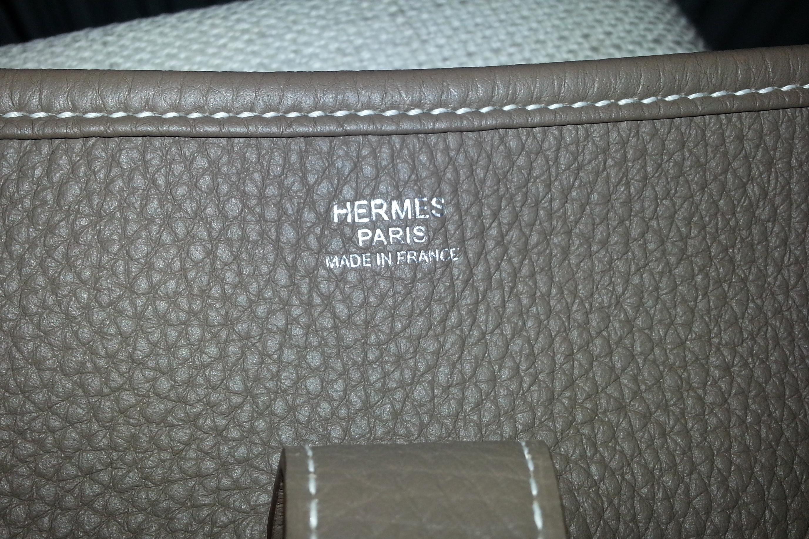 Hermès Evelyne III etoupe HappyFace313
