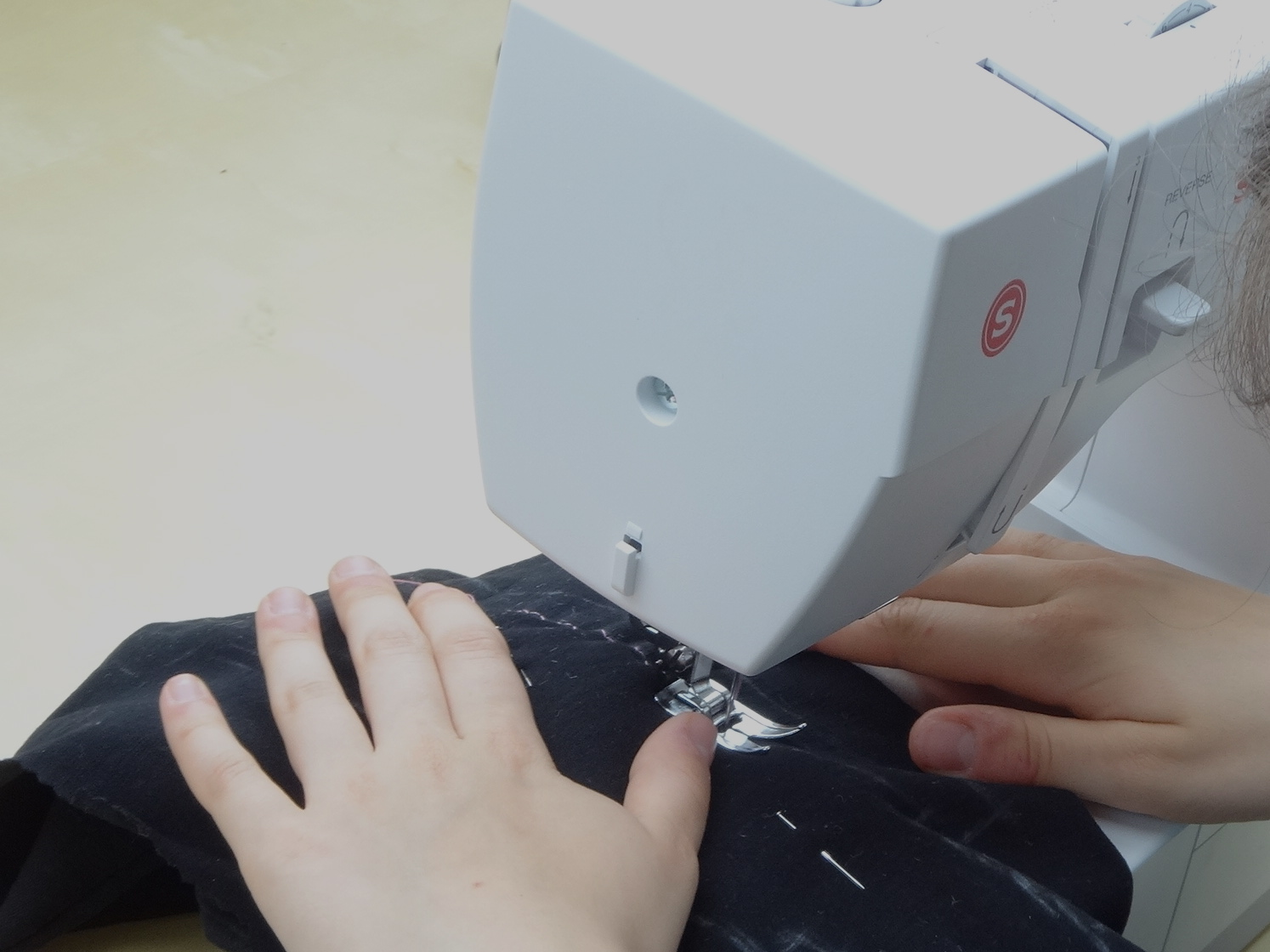 ...stitching away...
