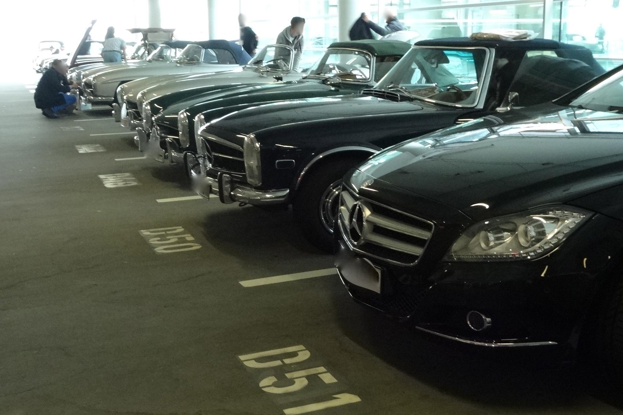 Mercedes Benz parking only!