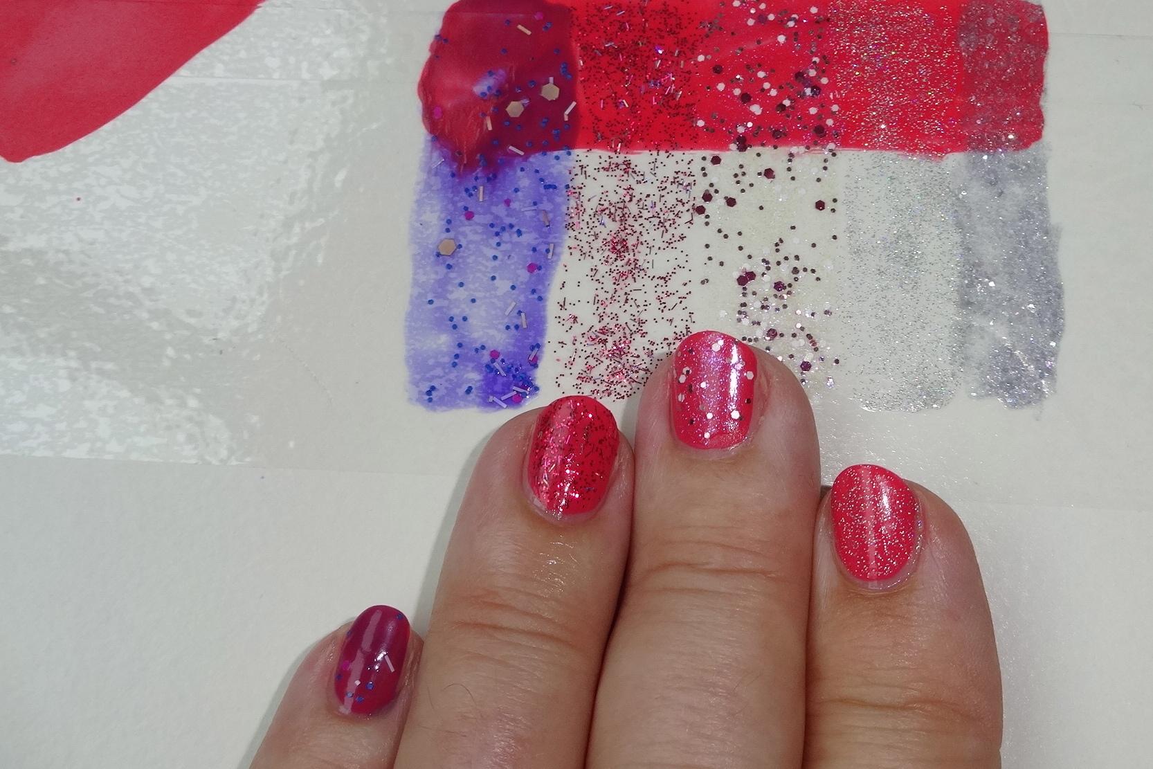 toppers on my nails / effect Lacke auf meinen Nägeln