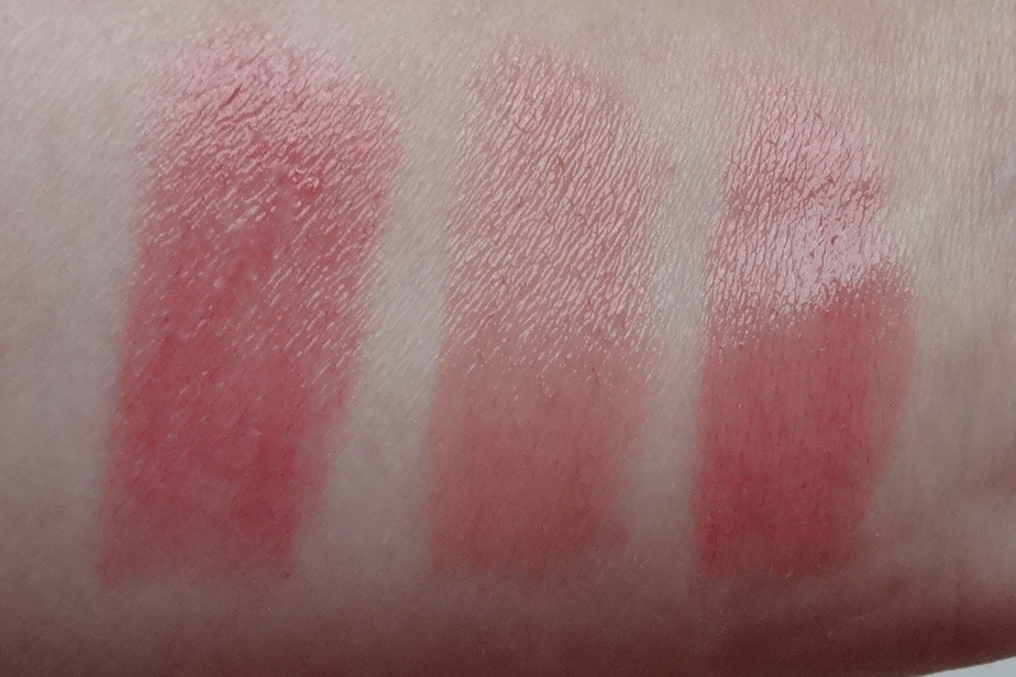 Swatch: Catrice Luminous Lips 120, 050 & 030