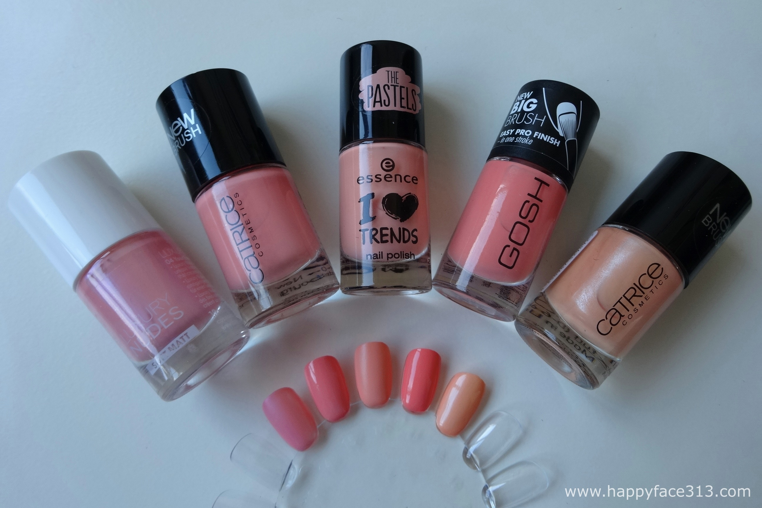 Catrice Luxury Nudes, Catrice, essence The Pastels, GOSH, Catrice