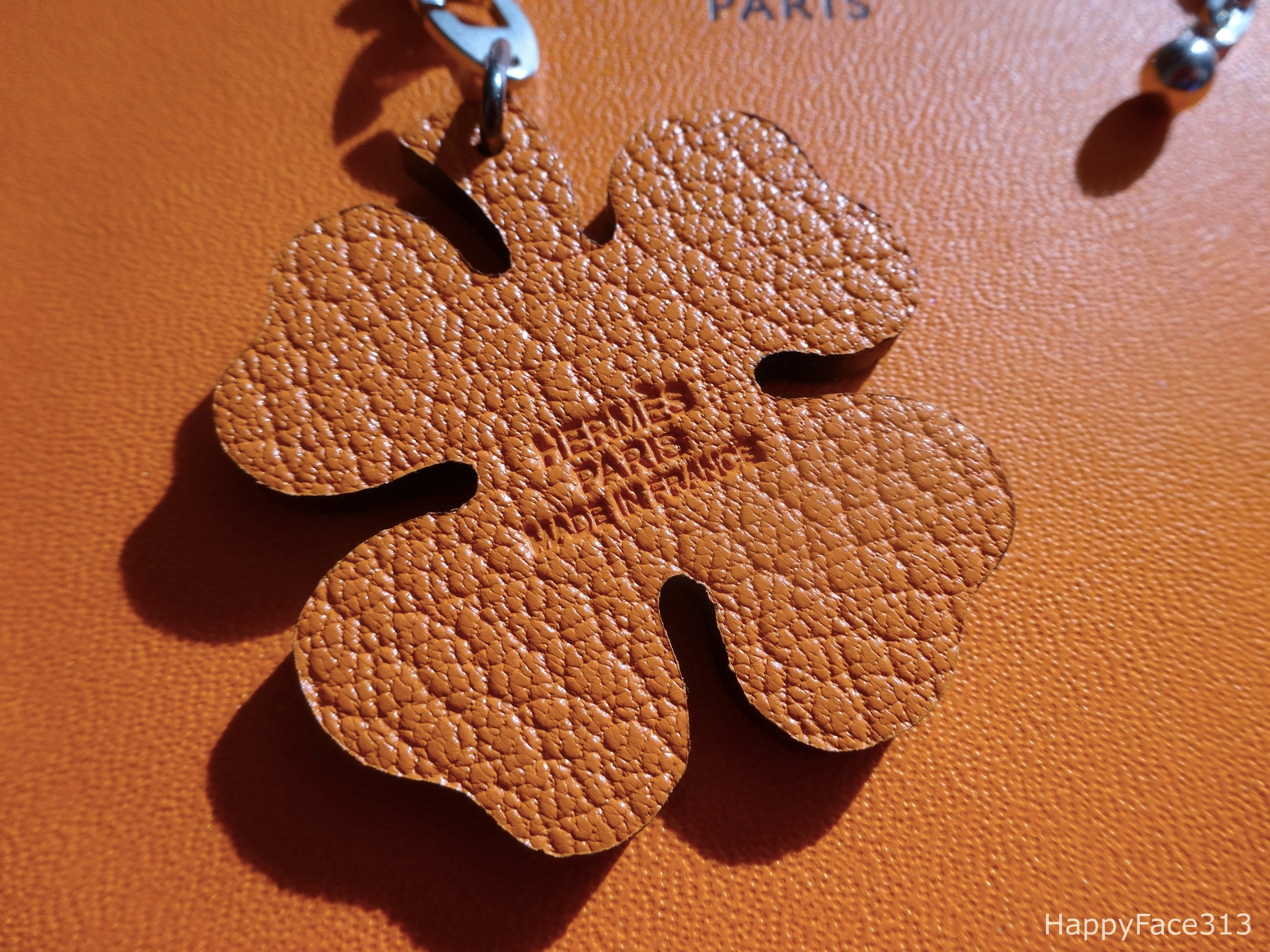Lucky Clover Bag Charm / Key Holder by Hermès
