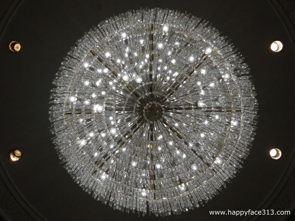 Chandelier in the lobby of our hotel