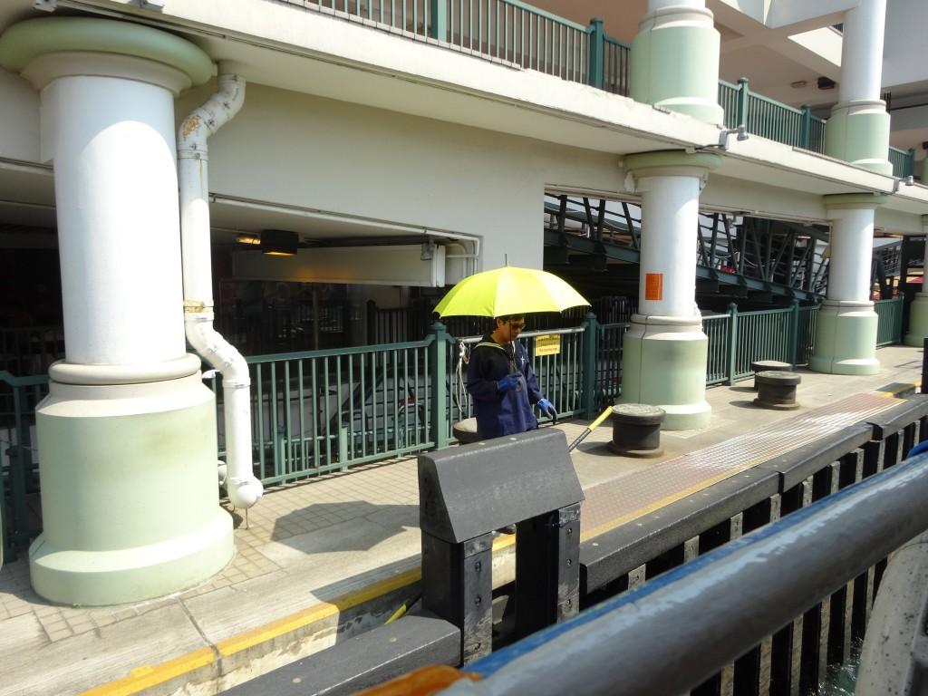 Star Ferry attendant awaiting us