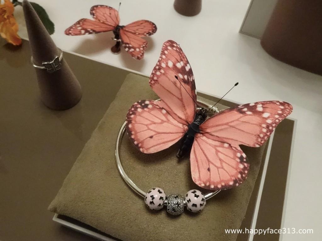Pandora Spring Collection 2015 - pink fluttering butterflies