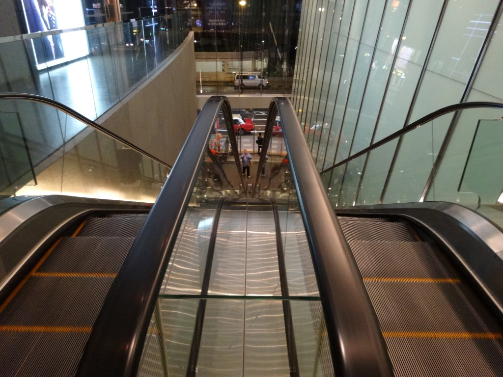 which way? up or down on the escalators