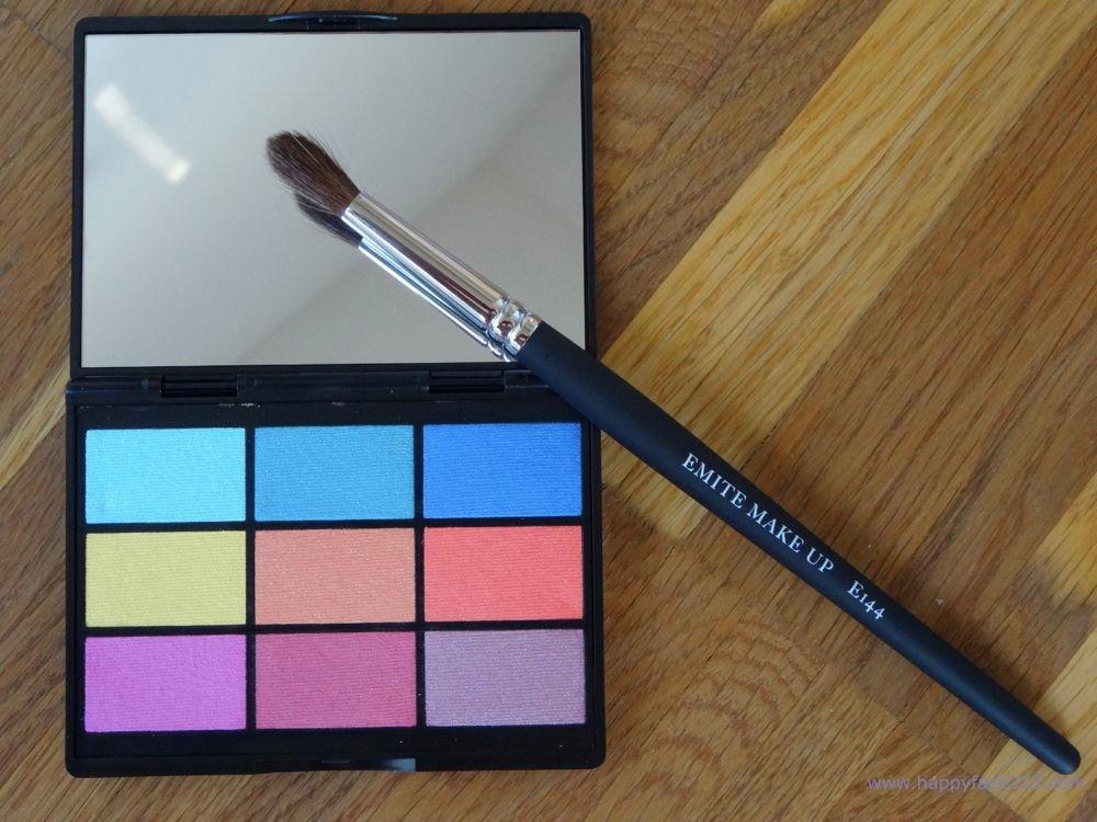 Gosh Eyeshadow Palette und Emire Eyeshadow Pinsel