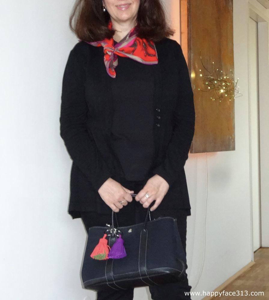 Carmen Troddeln an der Garden Party Tasche