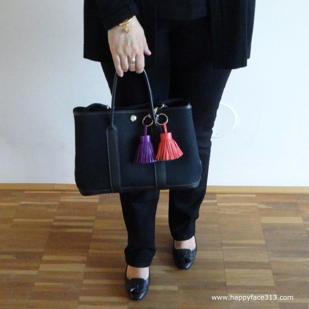 Tassels on shoes and bag / Troddel an Schuhen und Tasche
