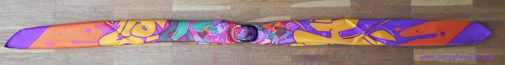 MaiTai Shawl ring with Hermès Graff scarf