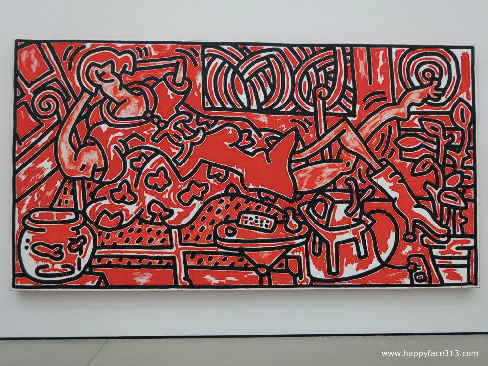 The Broad Keith Haring Red Room