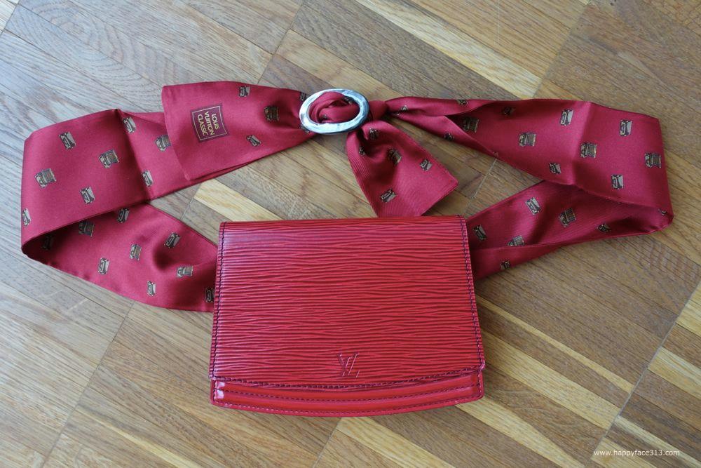 Louis Vuitton Pochette Tilsitt, Epi Leder Kastillan Rot