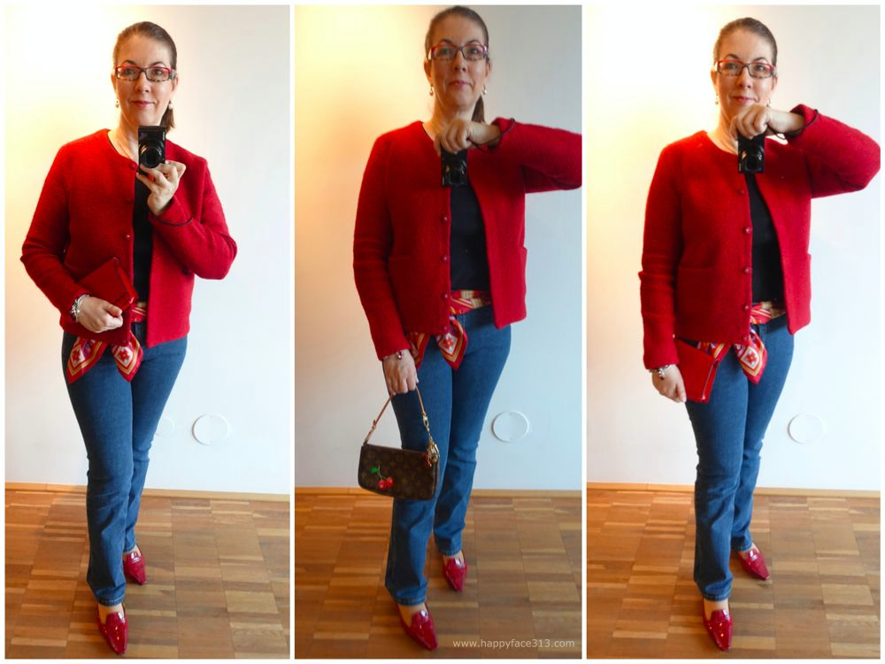Jeans und rote Jacke / Jeans with red jacket
