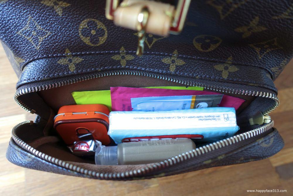 large outside zippered pocket / große Außentasche mit Reißverschluss