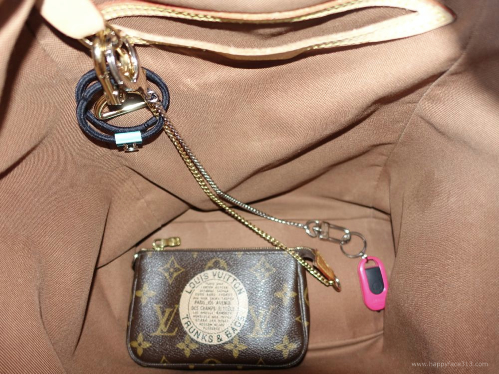 mini pochette attached to D-ring / Mini Pochette am D-Ring befetigt