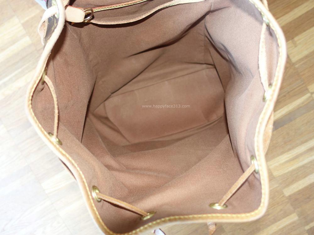 Louis Vuitton Montsouris GM - brown canvas lining
