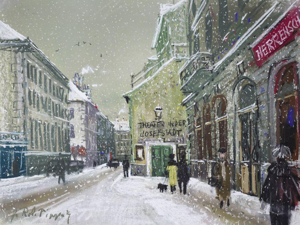 © Albertina, Hans Robert Pippal Wien 8, Theater in der Josefstadt im Winter
