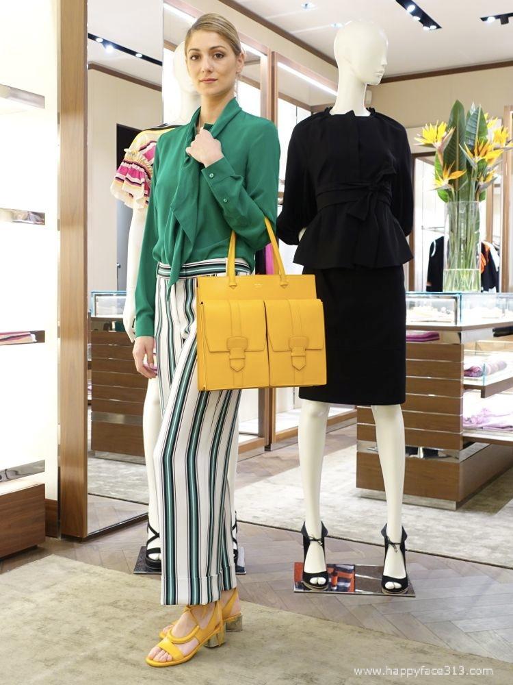 Ferragamo SS 2016 - green & yellow