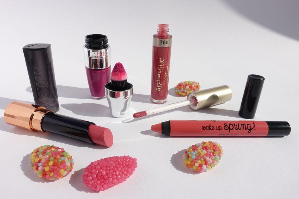 vlnr: Astor Stay Perfect, Lancome Juicy Shaker, Arabesque Lip Gloss, essence lipstick pen