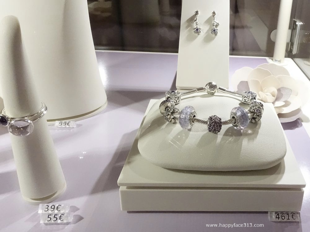 PANDORA charm bracelet and rings