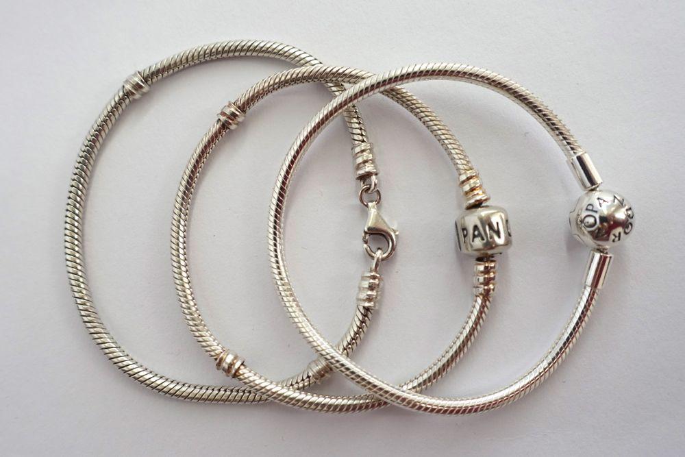 PANDORA charm bracelets / Armbänder für Charms