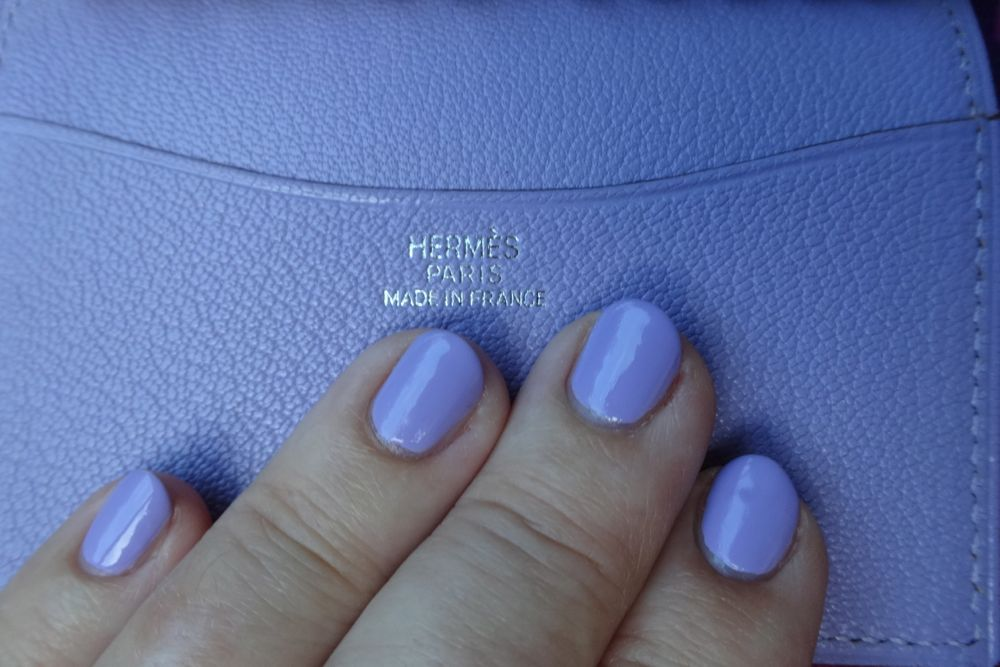 agenda cover and matching wisteria colored nail polish