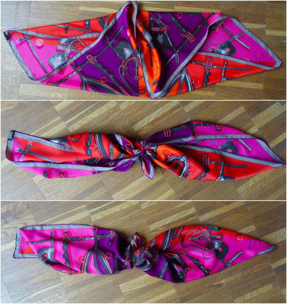 folding and knotting the scarf / das Tuch falten und knoten