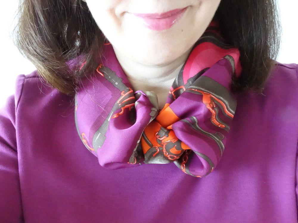 Hermès - Brides et Harnais de Pologne - aubergine/eggplant & orange
