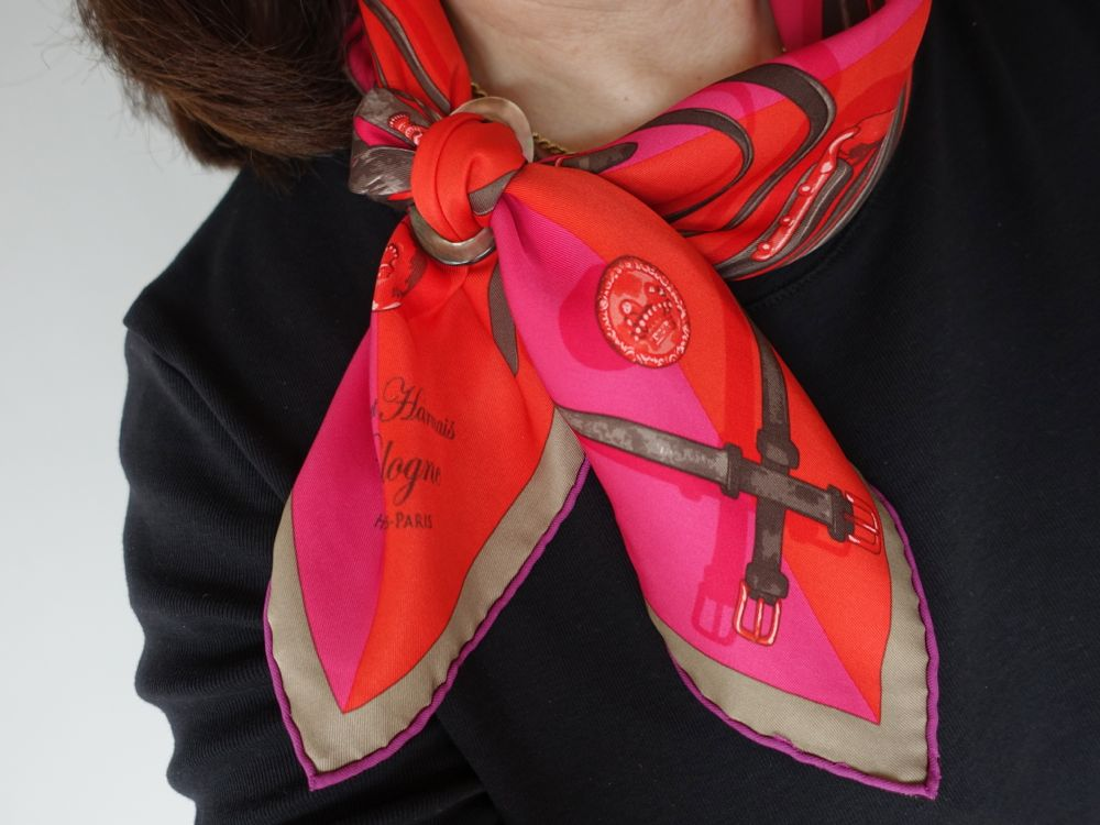 Hermès Brides et Harnais de Pologne / MaiTai Collection scarf ring