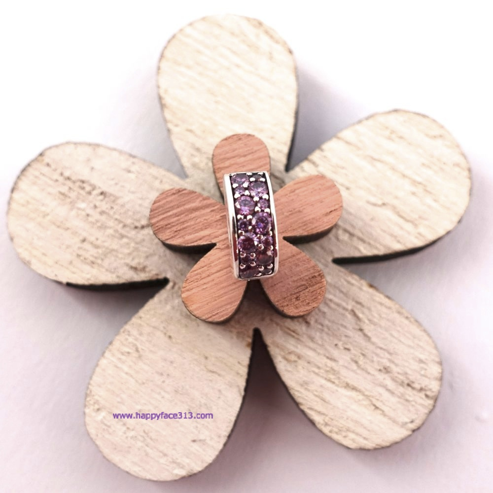Pandora - lilafarbener Pavé Glanz Clip / Fancy puple Shining Elegance Clip
