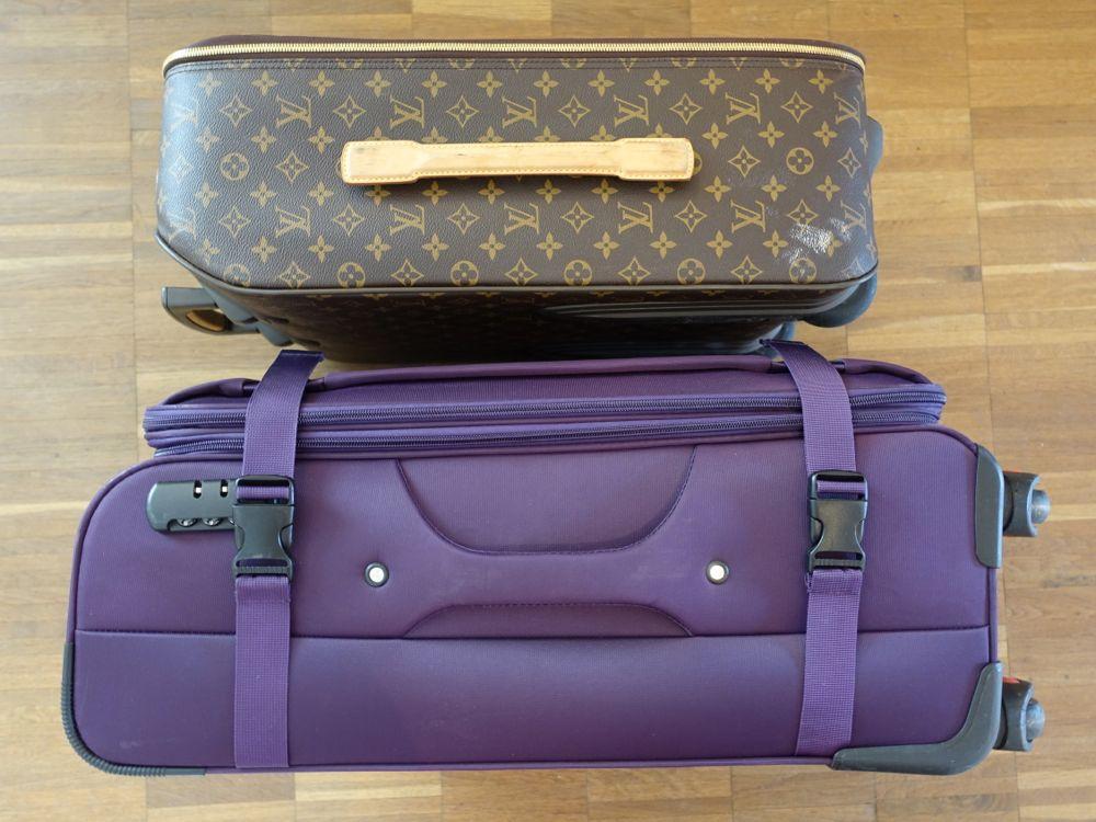 LV Pegase 55 und No-Name Koffer - Seitenansicht / side view