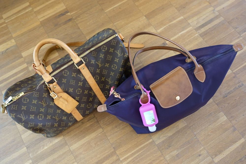 Louis Keepall Bandouliere 45, Longchamp Le Pliage Shopping Bag L