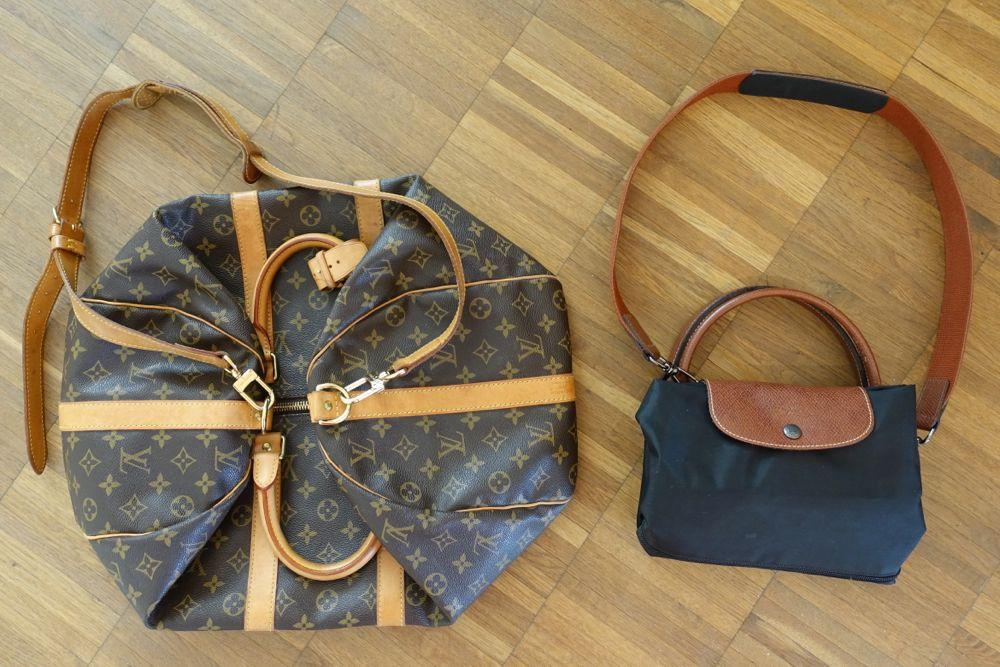 Louis Vuitton Keepall Bandouliere 55 / Le Pliage travel bag - Reisetasche