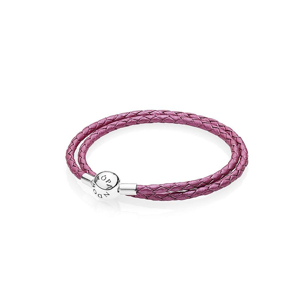 pinkfarbenes Lederarmband / pink colored leather bracelet - © Pandora