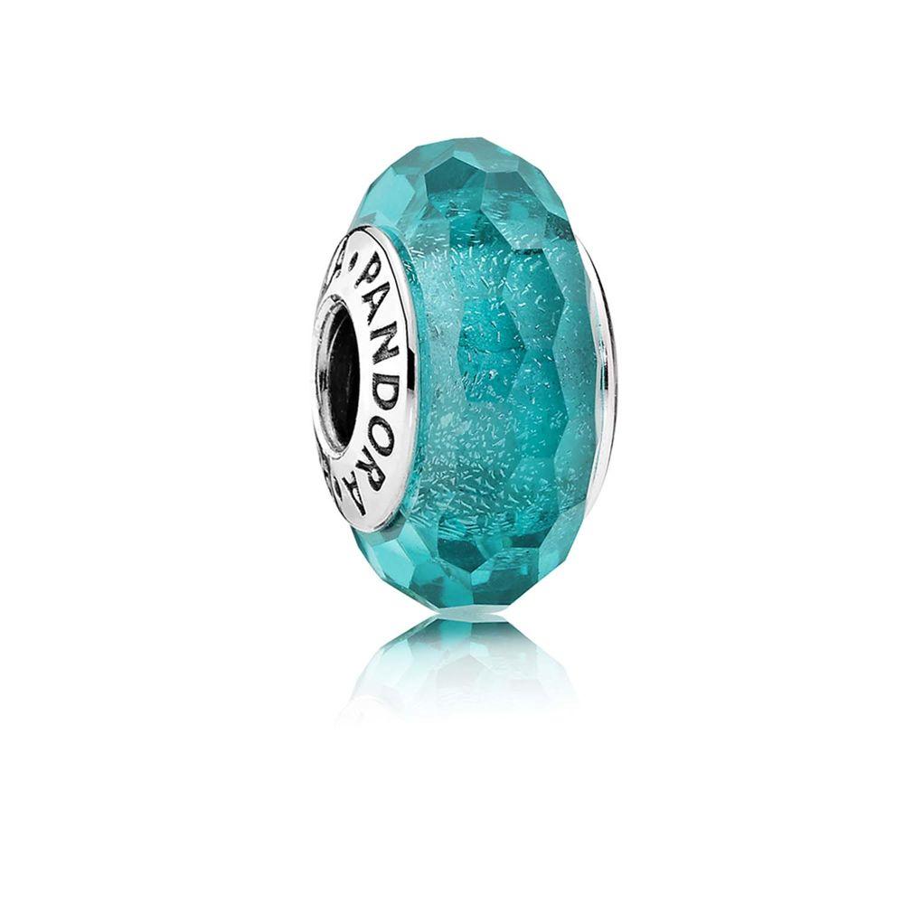 türkisfarbener / turquoise Murano Charm - © Pandora