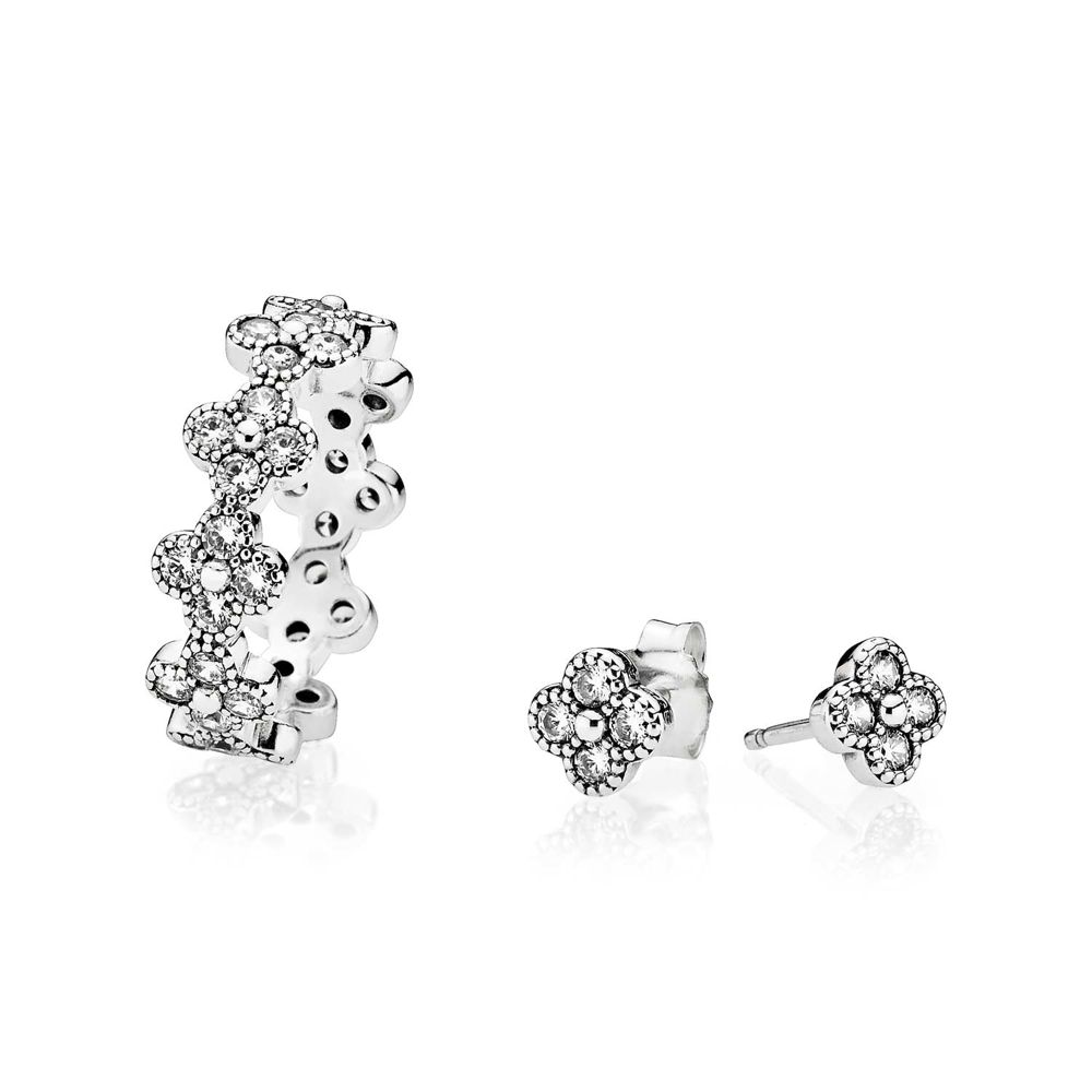 Oriental Flower ring & ear studs / Ring & Ohrstecker - © Pandora