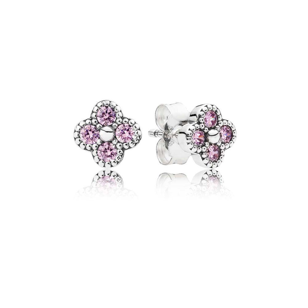 Oriental Flowers ear studs pink / Orientalische Blüten Ohrstecker pink - © Pandora