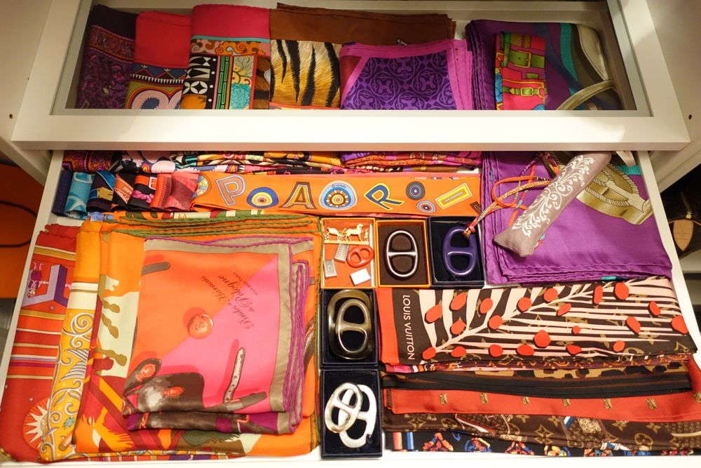 selection of scarves, Twillys, Bandeaus and scarf rings